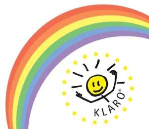 KLARO Regenbogen Pastell klein